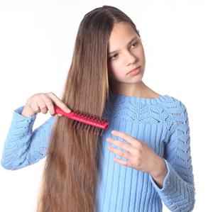 Распрямление кудрявых волос